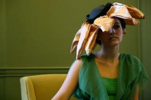 a sunflower hat